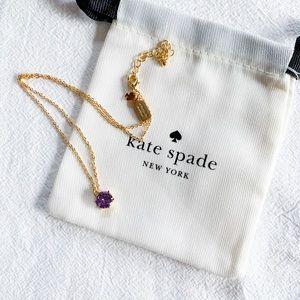 kate spade Jewelry - ❗️LAST1❗️Kate Spade Stone Pendant Necklace -Purple